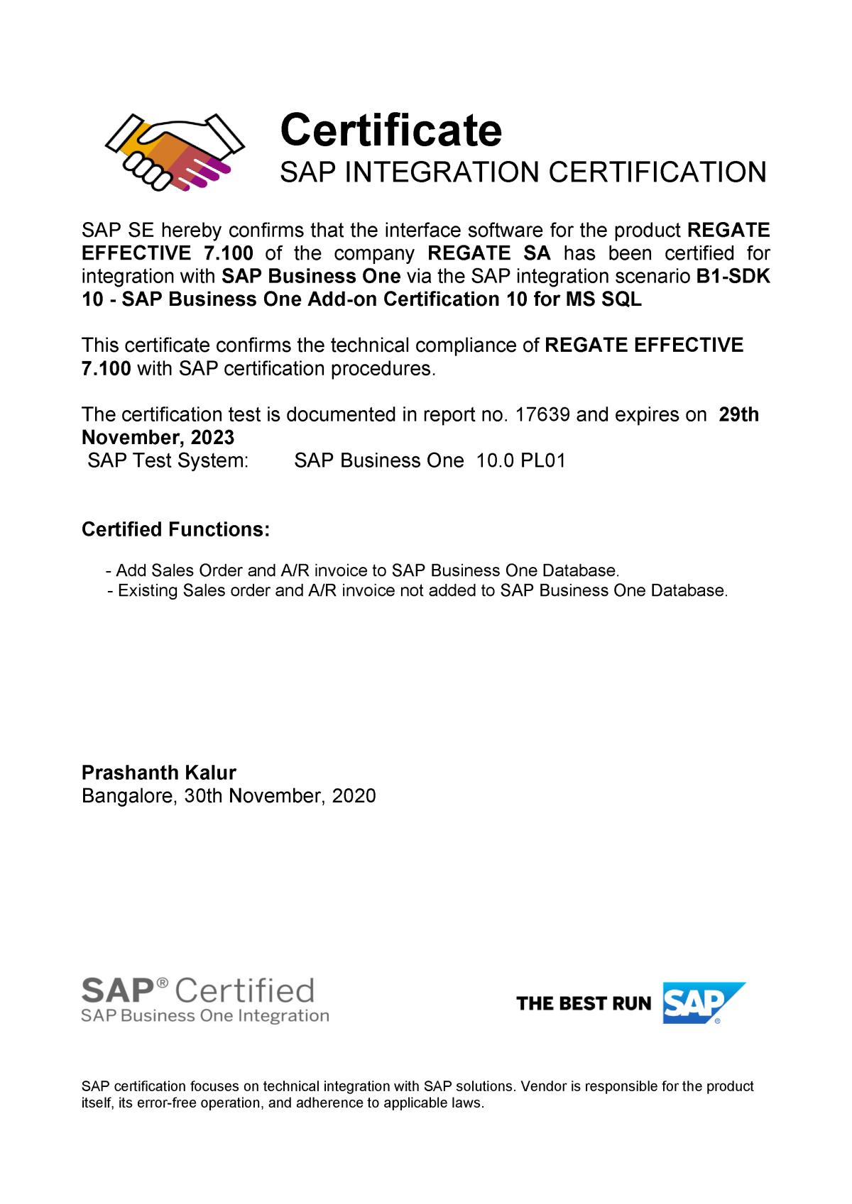 Η Regate είναι πιστοποιημένος συνεργάτης της SAP 85f0482ce2c